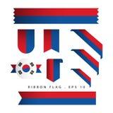 Illustration de conception de calibre de vecteur de drapeau de ruban de République de la Corée illustration de vecteur