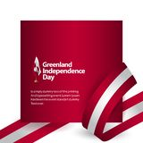 Illustration de conception de calibre de vecteur de Jour de la D?claration d'Ind?pendance du Groenland illustration libre de droits