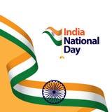 Illustration de conception de calibre de vecteur de jour national de l'Inde illustration de vecteur