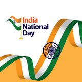 Illustration de conception de calibre de vecteur de jour national de l'Inde illustration libre de droits