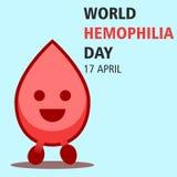 Illustration 06 de conception de bande dessinée de jour d'hémophilie du monde Image stock