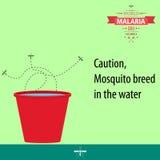 Illustration 08 de conception de bande dessinée de jour de malaria du monde Image libre de droits