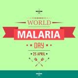 Illustration 01 de conception de bande dessinée de jour de malaria du monde illustration de vecteur