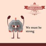 Illustration 08 de conception de bande dessinée de jour de tuberculose du monde Photographie stock
