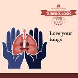 Illustration 09 de conception de bande dessinée de jour de tuberculose du monde Photographie stock libre de droits
