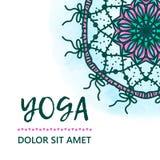 Illustration de conception de calibre de vintage de jour international de yoga Modèle oriental, illustration L'Islam, Indien arab Images stock