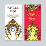 Illustration de conception de calibre de vintage de jour international de yoga Modèle oriental, illustration L'Islam, Indien arab Photos libres de droits