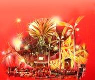 Illustration de conception de l'avant-projet de salon de casino Photo libre de droits