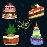 Illustration de conception de vecteur de gâteaux Image stock