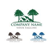 Illustration de conception de logo de vecteur de logo de chêne, sage et fort, entreprise de propriété de maison, station de vacan illustration stock