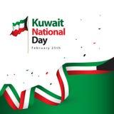 Illustration de conception de vecteur de jour national du Kowéit illustration de vecteur