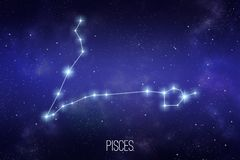 Illustration de constellation de zodiaque de Poissons illustration stock