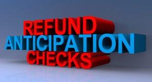 Illustration de contrôles d'anticipation de remboursement illustration libre de droits