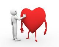 illustration de contrôle du coeur 3d Photo libre de droits