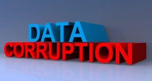 Illustration de corruption des données illustration libre de droits
