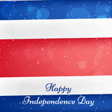 Illustration de Costa Rica Independence Day Background Photographie stock libre de droits