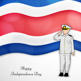 Illustration de Costa Rica Independence Day Background Photo libre de droits