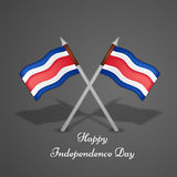 Illustration de Costa Rica Independence Day Background Images libres de droits
