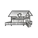 Illustration de cottage Photographie stock libre de droits