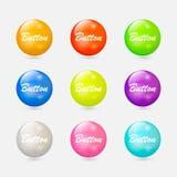illustration de couleur de boutons mon portefeuille à la bienvenue de vecteur Image stock