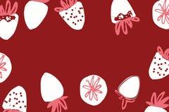 Illustration de couleur tirée par la main de fraise pour votre conception : sacs, T-shirts, papier peint Photo stock