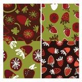 Illustration de couleur tirée par la main de fraise pour votre conception : sacs, T-shirts, papier peint Photos stock