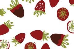Illustration de couleur tirée par la main de fraise pour votre conception : sacs, T-shirts, papier peint Photos libres de droits