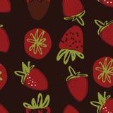 Illustration de couleur tirée par la main de fraise pour votre conception : sacs, T-shirts, papier peint Images stock