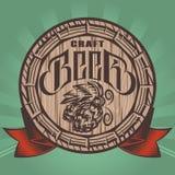 Illustration de couleur de vecteur avec le baril de bière Images stock