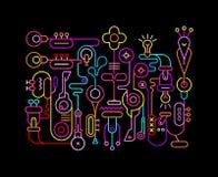 Illustration de couleurs au néon d'art abstrait Image stock