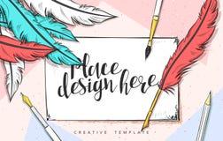 Illustration de croquis de concept de construction de calibre pour le marketing Maquette de concept Photos libres de droits