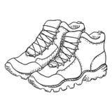 Illustration de croquis de vecteur - extrémité augmentant des bottes illustration de vecteur