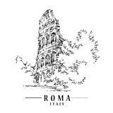 Illustration de croquis de Roma illustration libre de droits