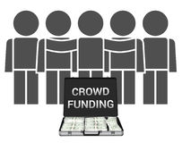 Illustration de Crowdfunding Photographie stock