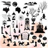 Illustration de décorations de Halloween Photographie stock libre de droits