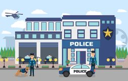 Illustration de Département de Police avec des dirigeants illustration stock