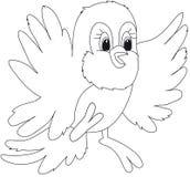 illustration de dessin animé d'oiseau Photos stock