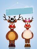 Illustration de deux conjoints de renne Photographie stock libre de droits