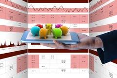 Illustration de Digital de concept en ligne d'investissement Photos stock