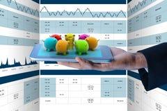 Illustration de Digital de concept en ligne d'investissement Photo libre de droits