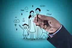 Illustration de Digital de concept de planification des naissances Images libres de droits