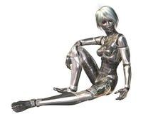Illustration de Digital 3D d'un cyborg féminin Images libres de droits