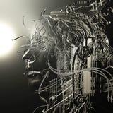 Illustration de Digital d'un soulagement femelle de cyborg Image stock