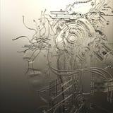 Illustration de Digital d'un soulagement femelle de cyborg Images libres de droits