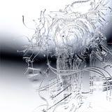 Illustration de Digital d'un soulagement femelle de cyborg Photographie stock libre de droits