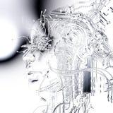 Illustration de Digital d'un soulagement femelle de cyborg Photos libres de droits