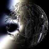 Illustration de Digital d'une tête de cyborg Photo libre de droits