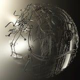 Illustration de Digital d'une tête de cyborg Photos stock