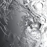 Illustration de Digital d'une tête de cyborg Image libre de droits