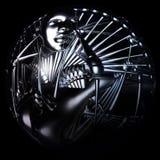 Illustration de Digital d'une tête de cyborg Images libres de droits